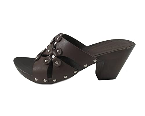 93afe873bd scarpa donna Pollini zoccolo in pelle marrone 38 marrone: Amazon.it: Scarpe  e borse