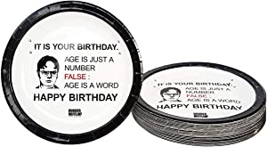 It is Your Birthday Plates The Office Merchandise Birthday Decoration Party Supplies Dwight Schrute Dunder Mifflin Design Cake Plates (7