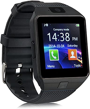 Smart Watch Bluetooth GT08, reloj de pulsera para Android Samsung HTC LG Sony Huawei (todas las funciones), iOS iPhone 5/5S/6/Plus, DZ09 With Camera black: Amazon.es: Electrónica