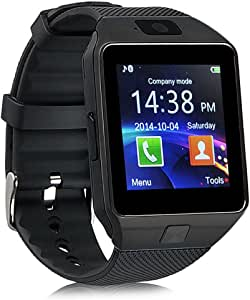 Smart Watch Dz09 Bluetooth Smartwatch with Camera for Iphone and Android Smartphones (Black)