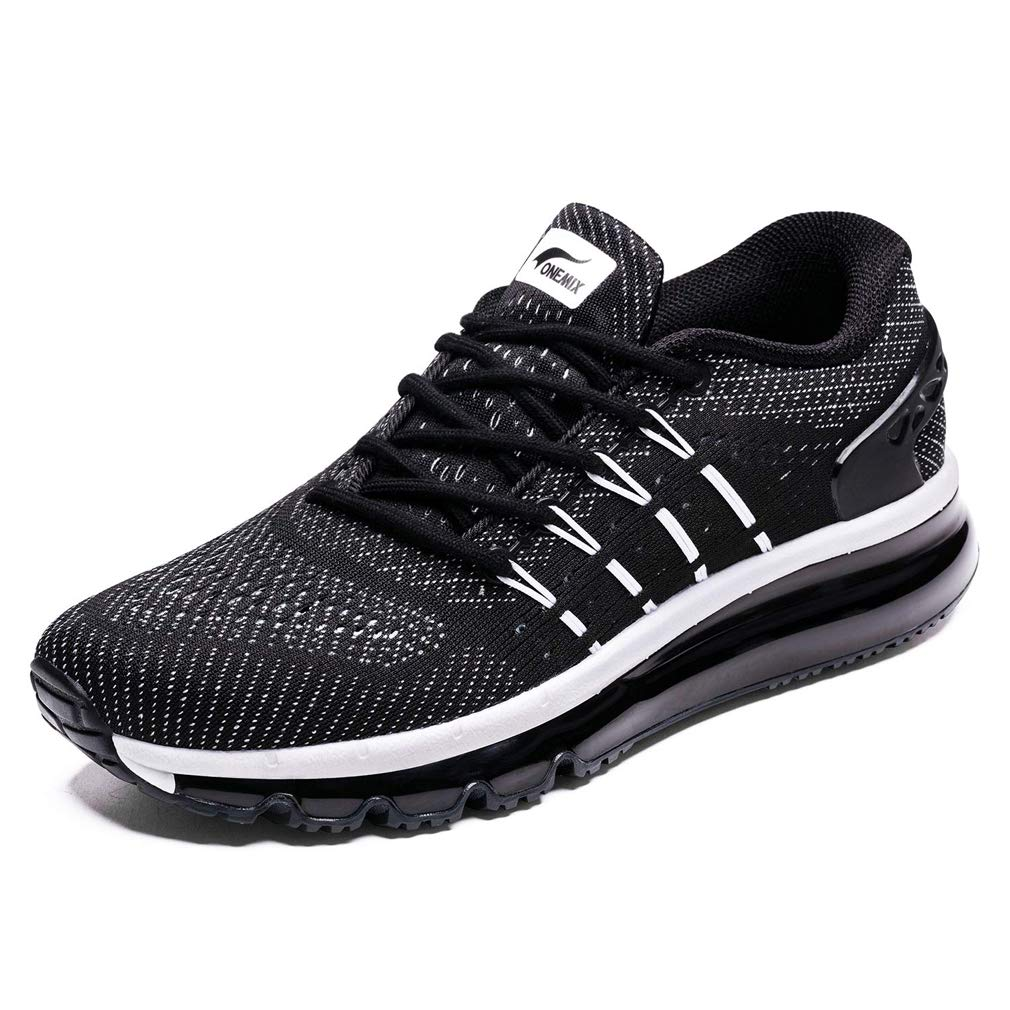 Black White UB-ONEMIX Mens Lightweight Air Running shoes Breathable Gym Outdoor Unique Walking Sneakers