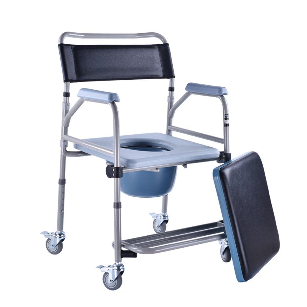 トイレ椅子折り畳み調節可能な高さ安全なトイレ車いす付きトイレシート B07C5LTFM4