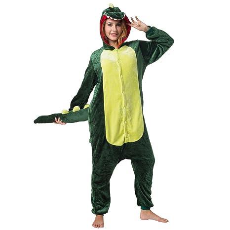 6a3e724796 Katara 1744 - Costume Animale Pigiama intero Kigurumi Carnevale,  Coccodrillo - Taglia L