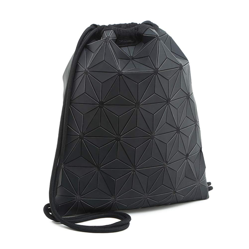 Mens drawstring backpack,Sports and leisure drawstring bag-black
