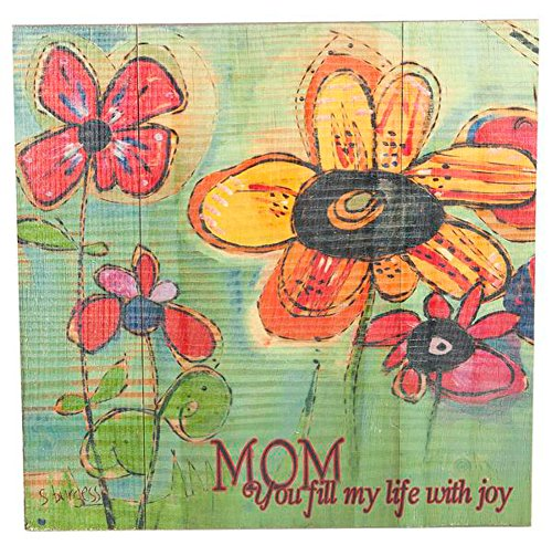 Ganz Wooden Decorative Wall Plaque - Mom You Fill My Life Joy