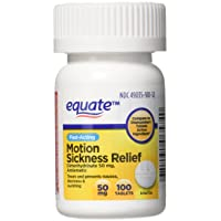 Equate Motion Sickness Dimenhydrinate 50 mg Generic Dramamine 100 tablets
