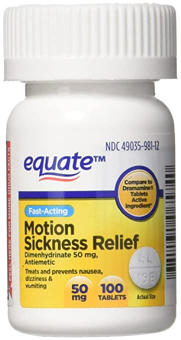 Amazon Com Equate Motion Sickness Dimenhydrinate 50 Mg Generic