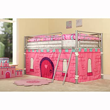 KIDS PRINCESS METAL MID SLEEPER GIRLS CABIN BUNK BED TENT INCLUDED  sc 1 st  Amazon UK & KIDS PRINCESS METAL MID SLEEPER GIRLS CABIN BUNK BED TENT INCLUDED ...