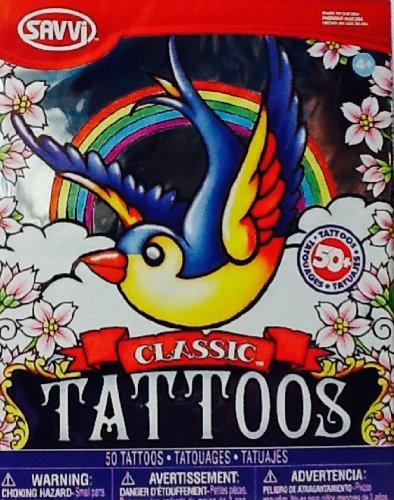 Temporary Tattoos ~ Classic ~ Savvi ~ 50+ ~ Ed Hardy Style Tattoos ...