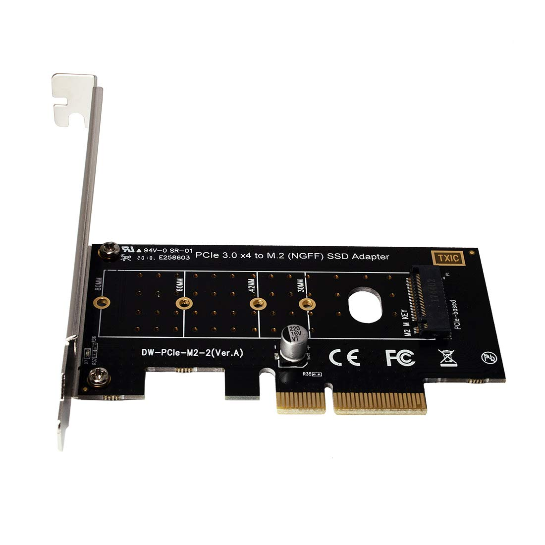 xqjtech PCI-E PCI Express 3.0 X4 to NVME M.2 NVME to NVME SSD PCI-e 3.0 x 4 Host Controller Expansion Card Support M Key SSD Type 2280 2260 2242 2230 Adapter Converter by xqjtech (Image #1)