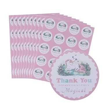 Amazoncom 200 Pcs10 Sheets Magical Unicorn Stickers Messar Thank