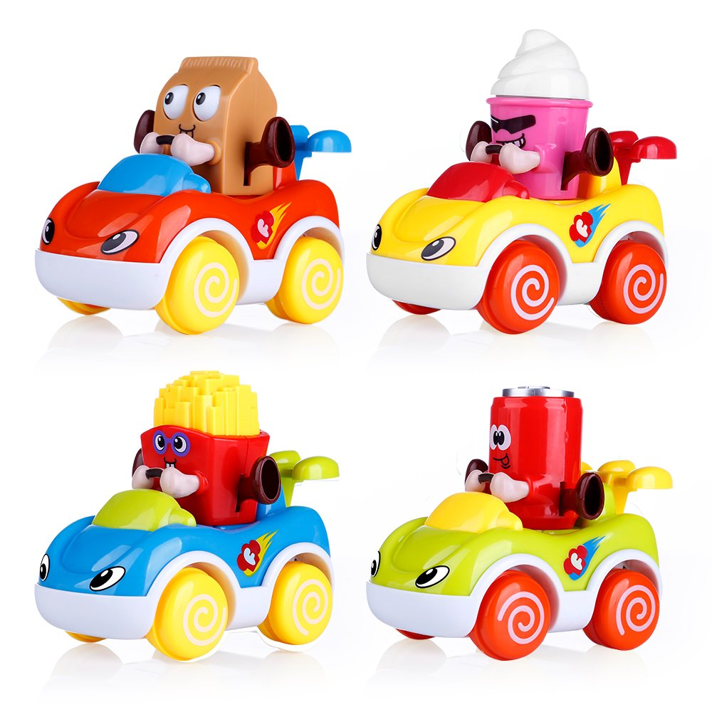 Vatosのセット4幼児用おもちゃVehicles , Friction Go and Powered Cars、漫画Push and Girls Go car toy playセット、早期教育玩具1 – 4歳Old Boys and Girls B07CNS94FQ, 宝石時計サロン帝國堂:f5aaeee5 --- infinnate.ro