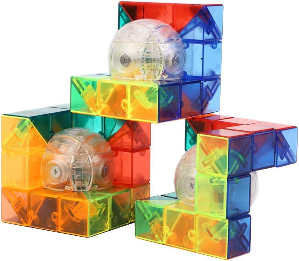 HJXDtech® Moyu Idea Creativa Cubo - Cristal Transparente geométrica 3D Cubo mágico Ilimitado Imaginando Rompecabezas para la Relajación (3 Paquetes): Amazon.es: Juguetes y juegos