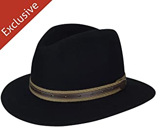 product image for Hats.com Quest Safari Fedora - Exclusive Black, Large