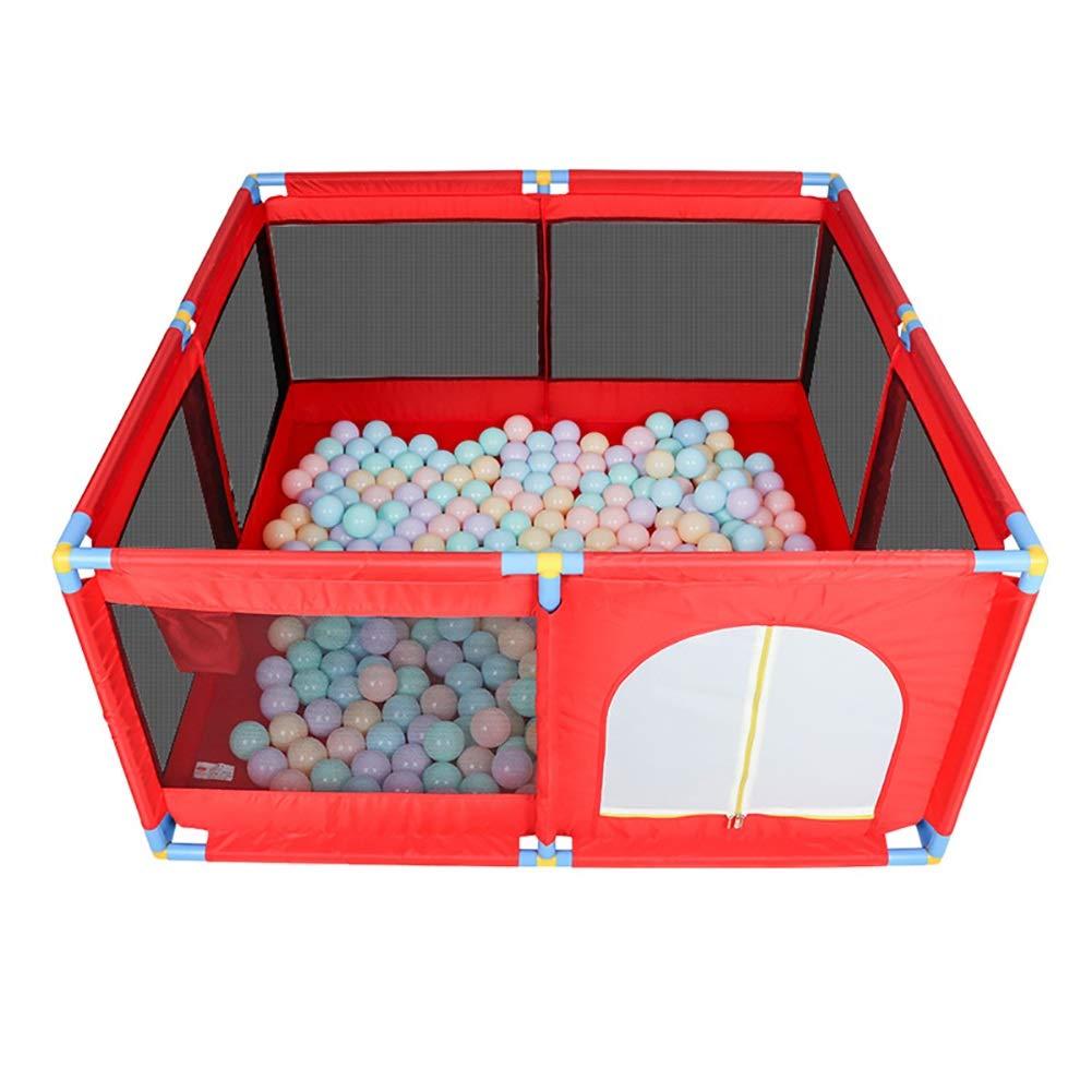 【限定品】 -ベビーサークル Playpen - 子供用防護柵 赤、8パネルポータブル折りたたみ式折りたたみ式Playard、高さ66 Cm Playpen+mat - 赤 - (色 : A, サイズ さいず : Playpen+mat) Playpen+mat A B07P43CHF7, 引越資材プロショップ:8aa941c9 --- a0267596.xsph.ru