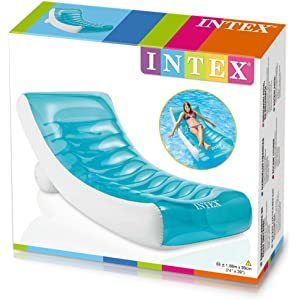 INTEX - Tumbona Hinchable Ondulada