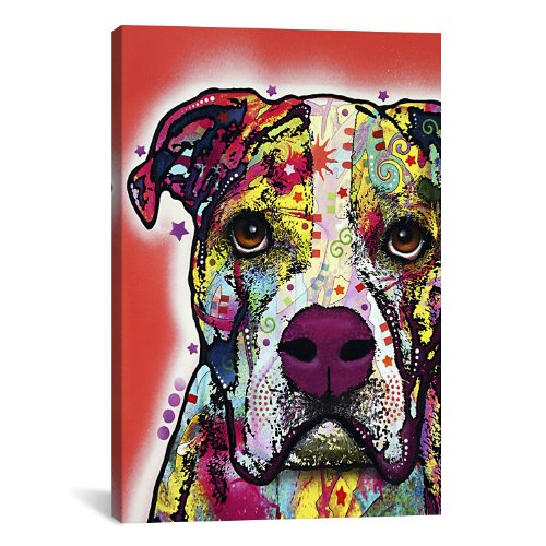 iCanvasART American Bulldog Canvas Art Print by Dean Russo, 18 by 12-Inch