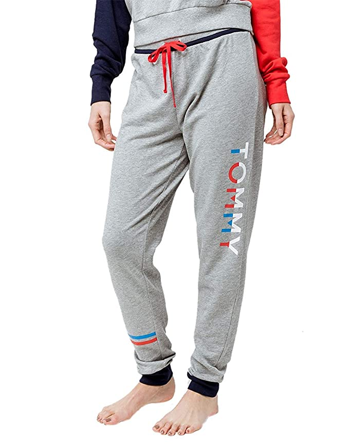 fdb14658 Tommy Hilfiger Women's Logo Jogger Sweatpant Lounge Pant Bottom Pajama Pj  at Amazon Women's Clothing store: