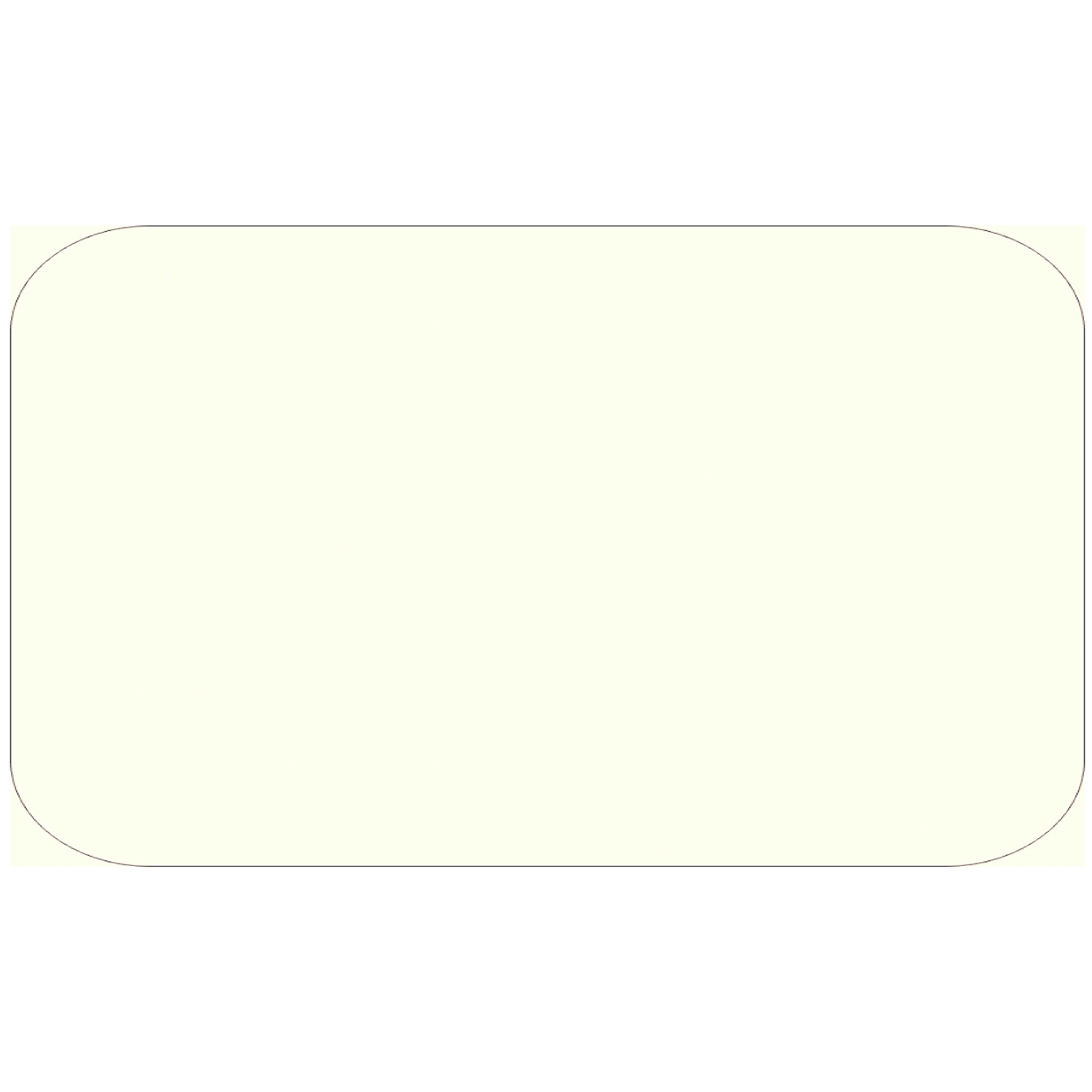 Colonial Cards: 150 White Parchment 3'' x 5'' Index Cards, Unruled with Rounded Corners