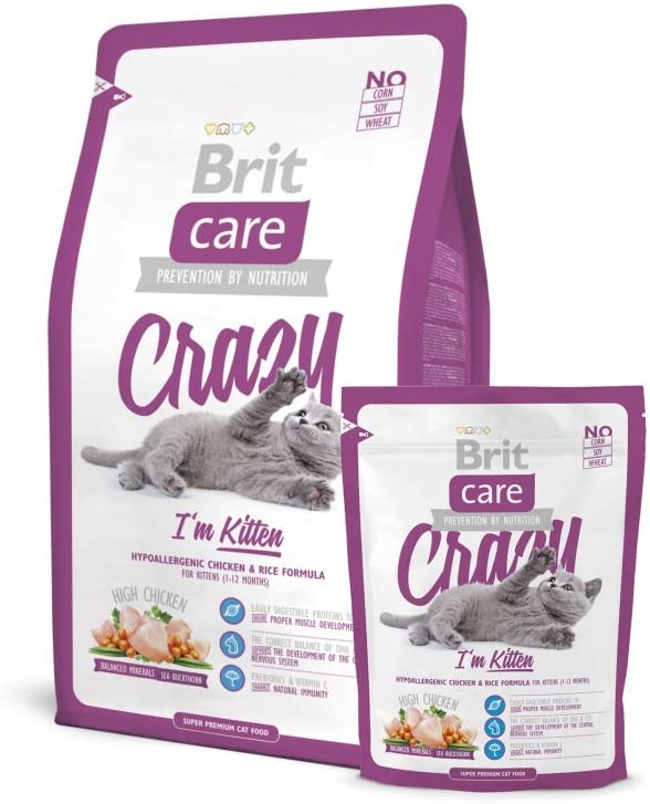 Brit Care Cat Crazy Im Kitten Comida para Gatos - 400 gr: Amazon.es: Productos para mascotas