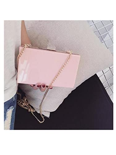 Paddy Meredith New Acrylic Transparent Clutch Chain Box Bag Women Shoulder Messenger Bags Wedding Party Day