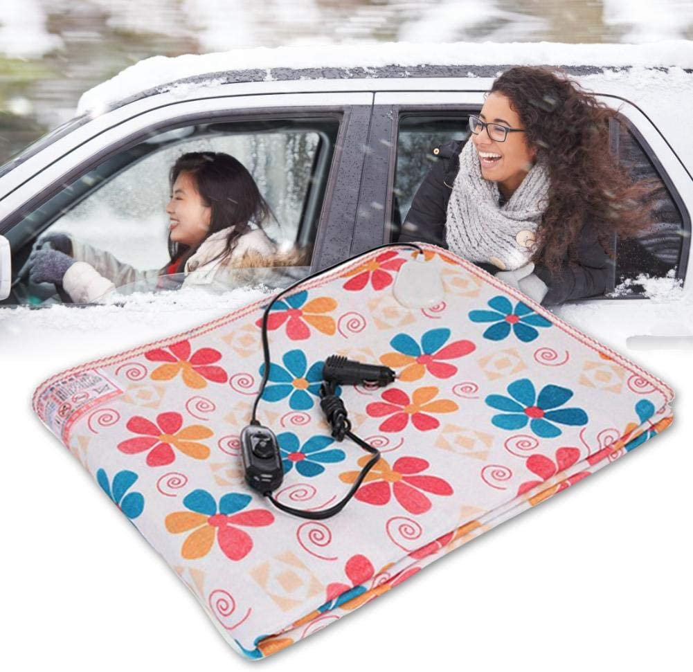 Truck Boats or RV,High//Low Temp Control 59.05x 27.55,59.05x19.68 Heated Quilt for Car 12V//24V Heated Smart Multifunctional Travel Electric Blanket