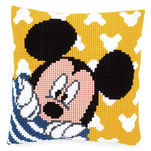 (Disney's Mickey Mouse 'Peek-a-Boo' Cross Stitch Cushion Kit )