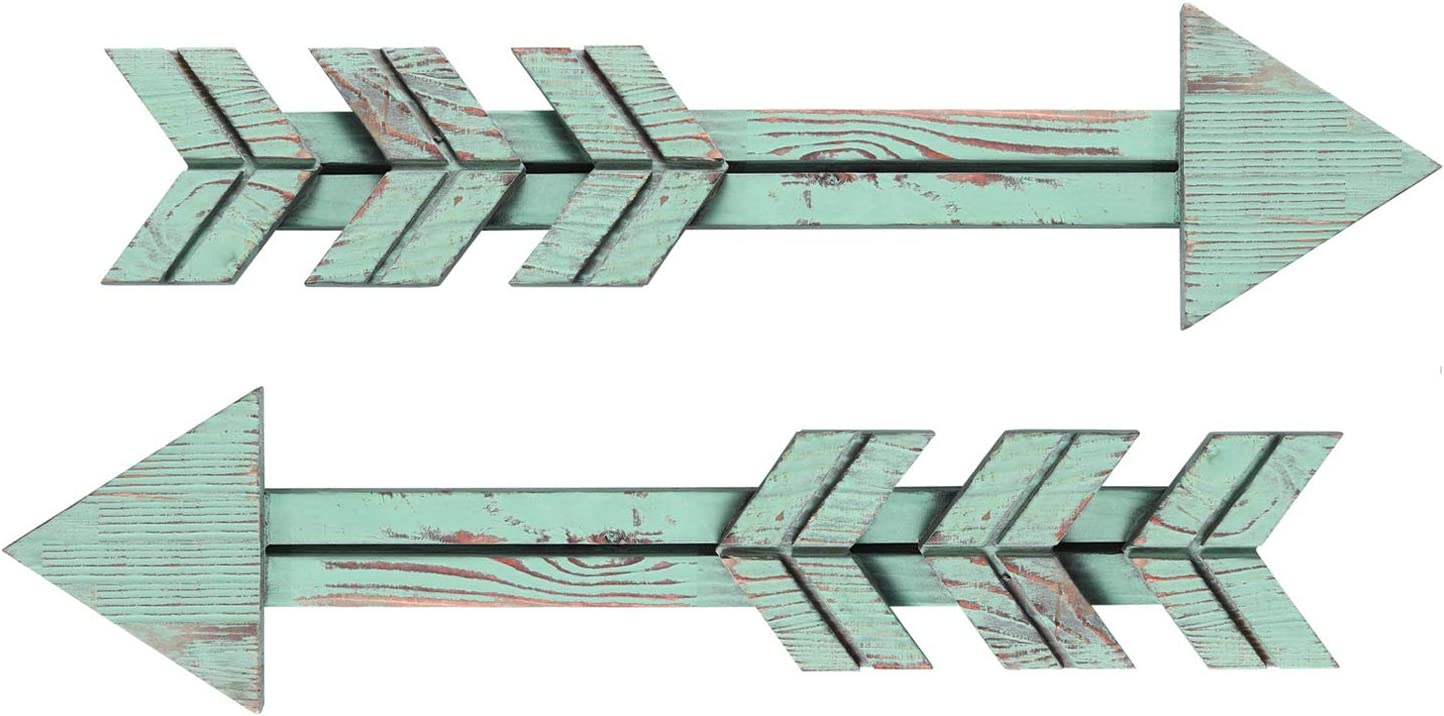 Mokof 2 Pack Wooden Arrow Wall Decor