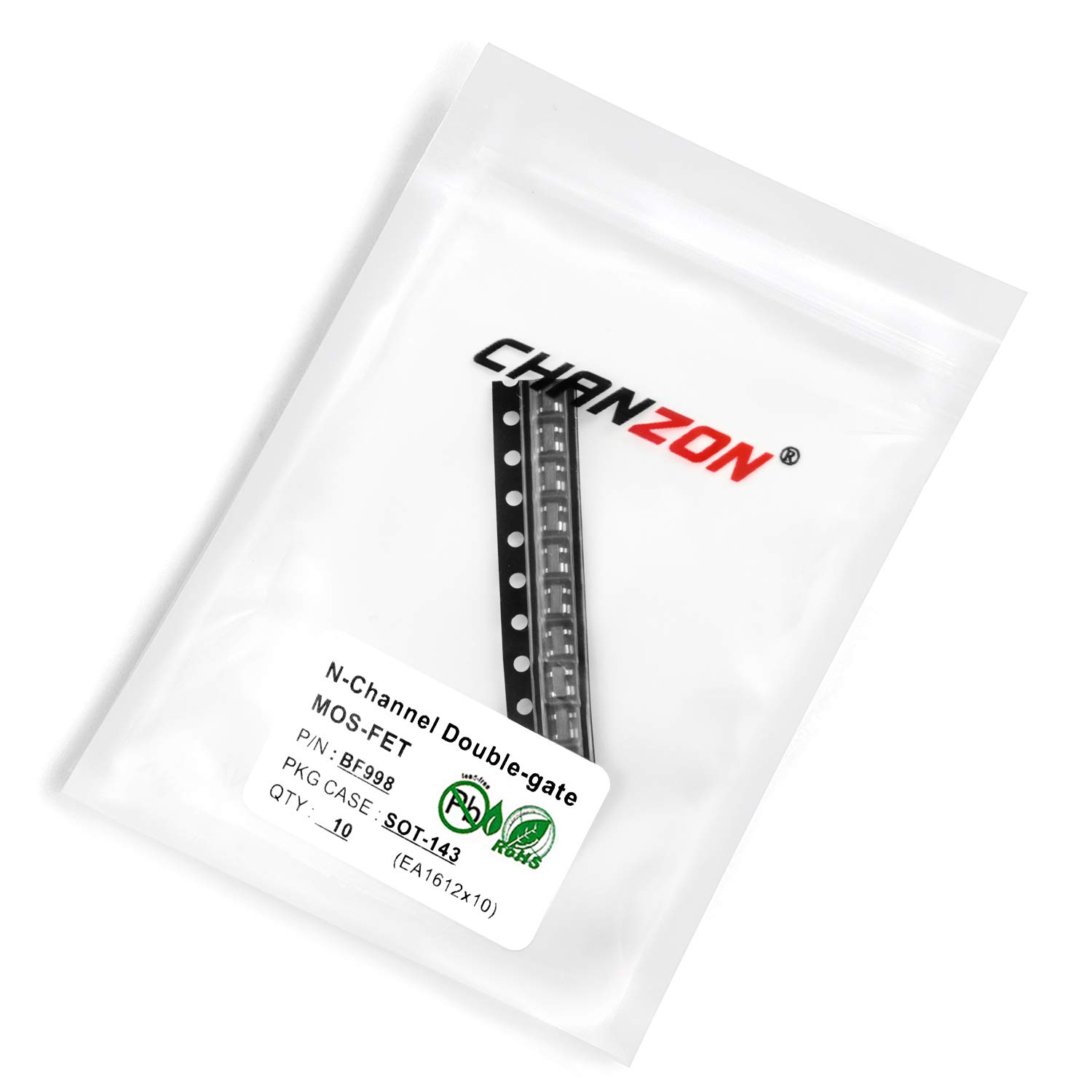 Chanzon 10pcs BF998 SOT-143 N-Channel Double-gate Sic MOSFET Transistor 30mA SMD