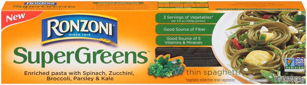 Amazon Com Ronzoni Supergreens Rotini Pasta 12 Oz Boxes Set Of