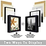 Frametory, Shadow Box for Pictures, Receipts Holder Frame - Wall Display, Swivel Tabs, Sawtooth Hanger - Great for Travel Souvenirs, Plane Tickets, Brochures