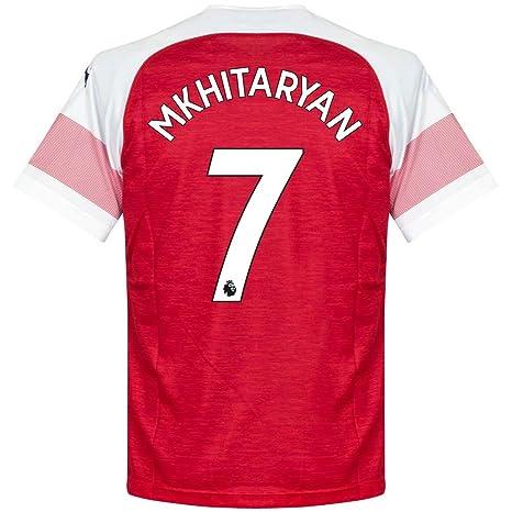 PUMA Camiseta Arsenal Home Mkhitaryan 7 2018 2019 (impresión ...