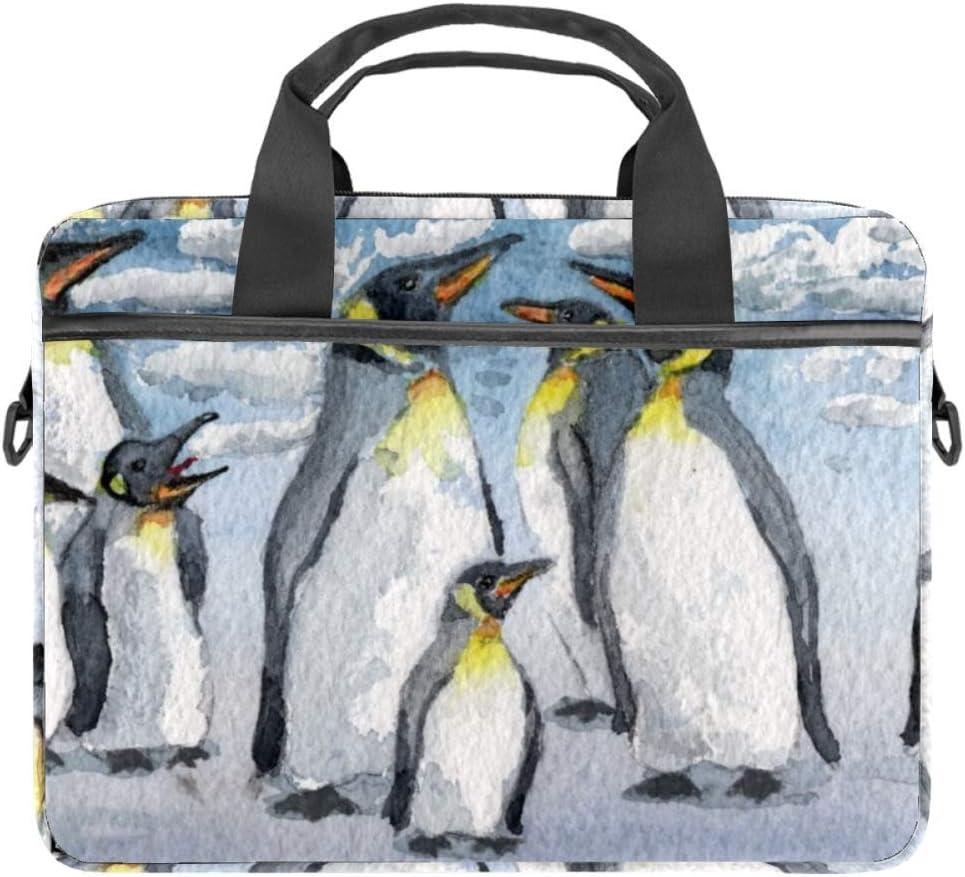 TIZORAX - Funda para portátil con asa (15-15,4 pulgadas), diseño de pingüino