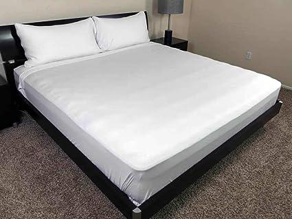 Amazoncom 100 Cotton White Fitted Sheet 8 Deep Elastic Pocket