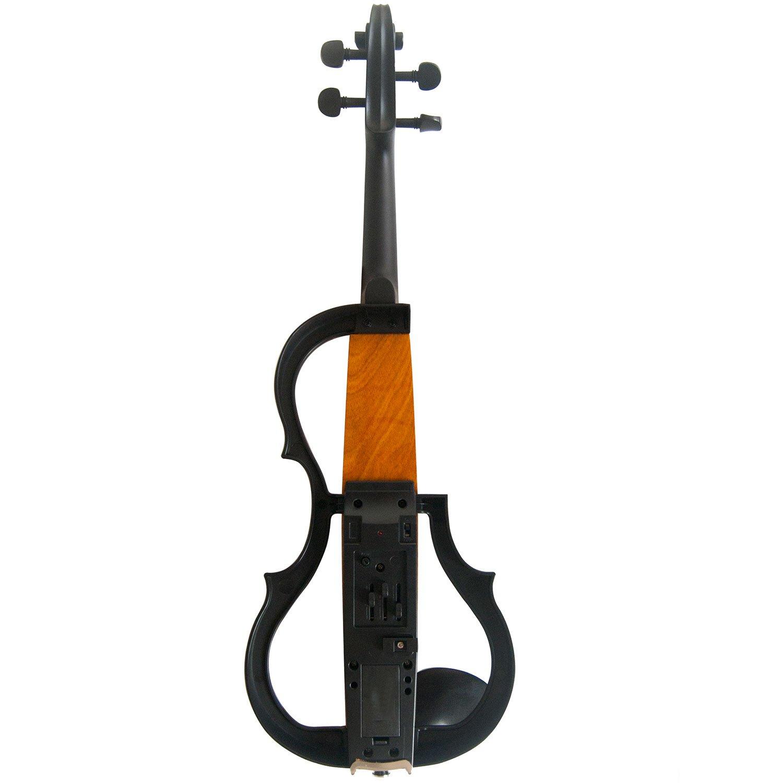 Aliyes Handmade Professional Silent Electric Violin 4//4 Full Size Professional Solid Wood Student Violin For Beginner Violin Kit String,Shoulder Rest,Rosin-N006