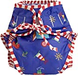 Kushies Baby Unisex Swim Diaper - Large,Sailboats Print,Large,