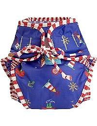 Kushies Baby Unisex Swim Diaper - Medium,Sailboats Print,Medium,