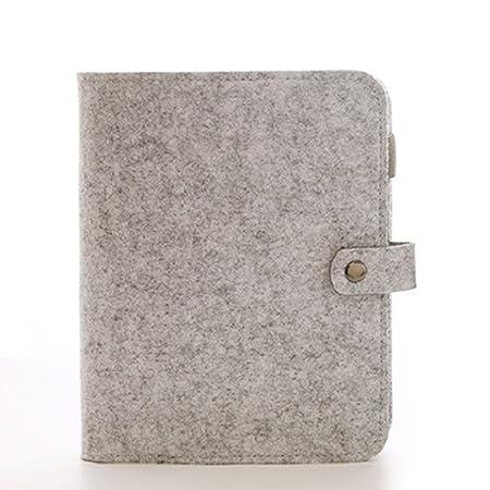 LYCOS3 A5/A6 - Cuaderno de Fieltro con 6 Anillas Redondas ...