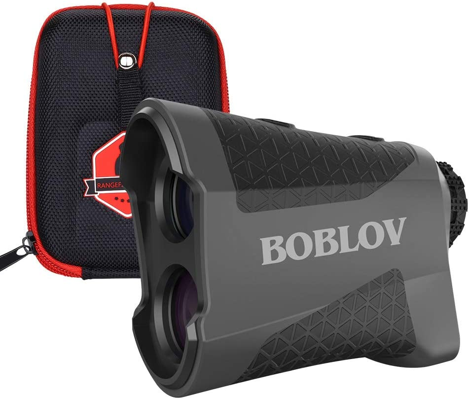 BOBLOV 650 Yards Golf Range Finder Flaglocking Rangefinder with Pinsensor Vibration Continuous Scan Function 6X Magnification K600 Series Gift Wrapping