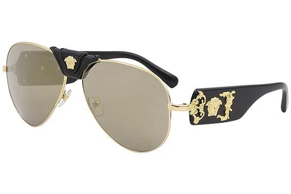 785ea064857b Amazon.com: Versace Mens Sunglasses Gold/Brown Metal - Non-Polarized ...