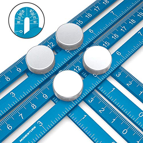 Angulizer Multi-Angle Template Ruler | Ultimate Easy Angleizer | Universal Full Metal Anglizer Jig | Irregular Shape Copy Tool | Crafter Layout Stencil | Blue