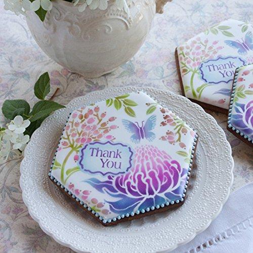Cookie Stencils by Julia Usher Congratulations Prettier Plaques 5 Stencil Set