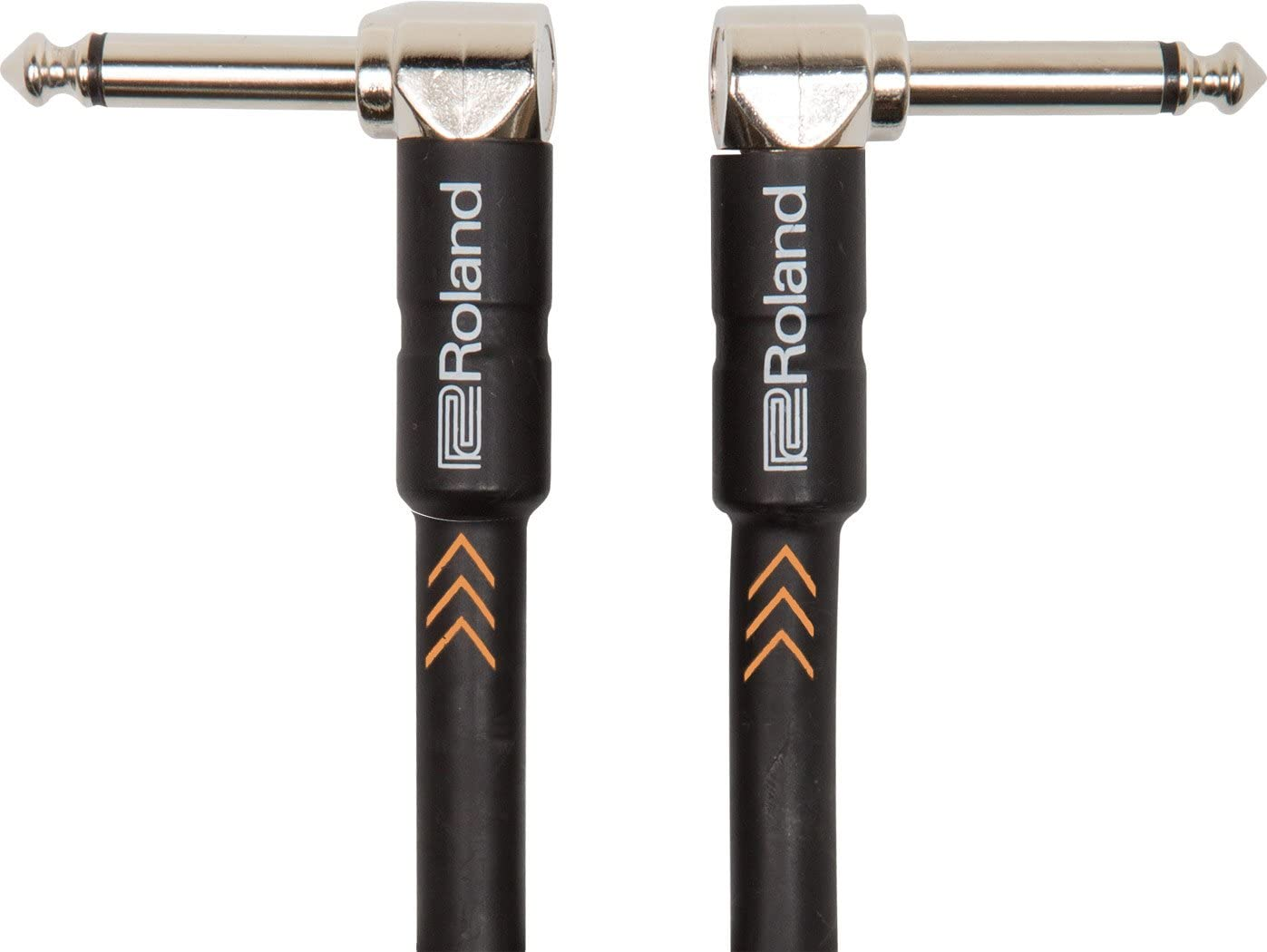 Roland Black Series Instrument Cable, Angled/Angled 1/4-Inch Jack, 6-Inch
