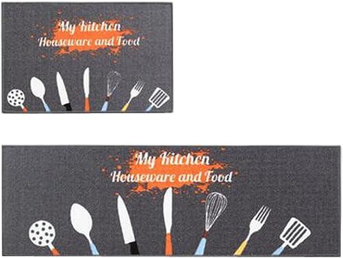 Kylin Express Nonslip Doormat Entrance Mat Galley Kitchen Mat Suits, B