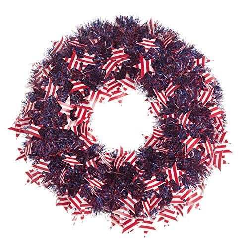 Americana Wreath - Darice Patriotic Wreath American Flags Tinsel 20