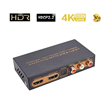 Hdr HDMI Audio Extractor splitter 4 K @ 60Hz/UHD/hdcp2.2/