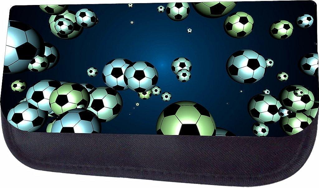 Soccer Balls On Blue Jacks Outlet PreSchool Childrens Backpack and Pencil Case SET