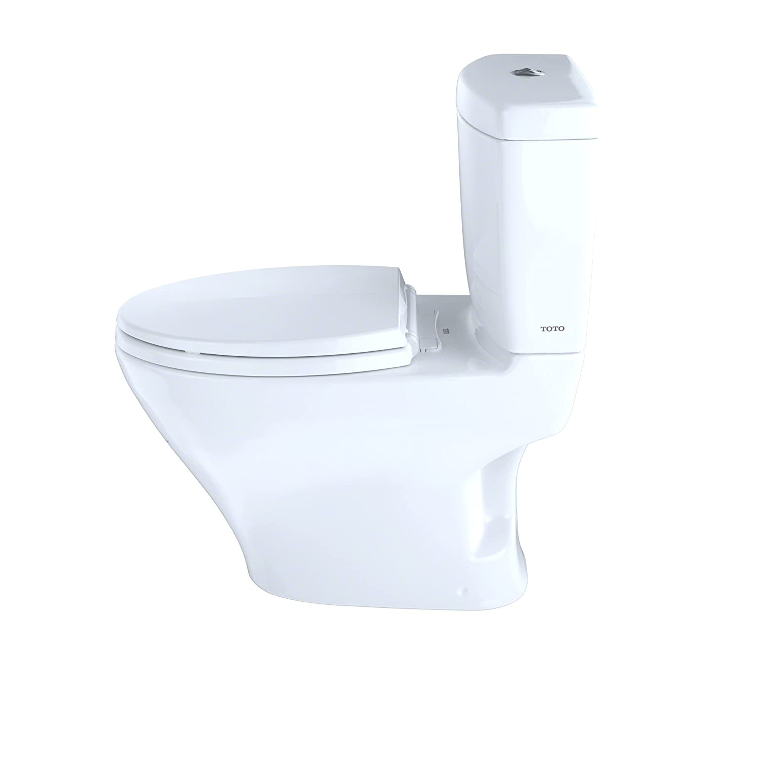 TOTO CST412MF.01 Aquia Dual Flush Elongated Two-Piece Toilet, 1.6GPF ...