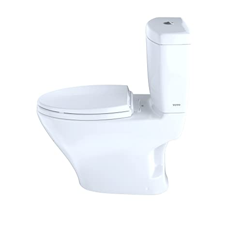 TOTO CST412MF.01 Aquia Dual Flush Elongated Two-Piece Toilet, 1.6GPF & 0.9GPF
