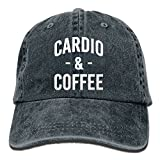 mr coffee pre filters - E-Isabel Cardio and Coffee Funny Workout Fitness Adjustable Travel Cotton Washed Denim Cap Hat Navy